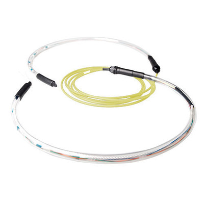 ACT 250 meter Singlemode 9/125 OS2 indoor/outdoor kabel 4 voudig met LC connectoren Fiber optic kabel