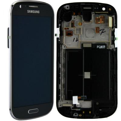 Samsung mobile phone spare part: GT-I8730 Galaxy Express, Complete Front+LCD+Touchscreen, grey