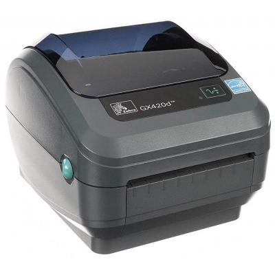 Zebra GX420d DT - USB - Ethernet Labelprinter - Zwart