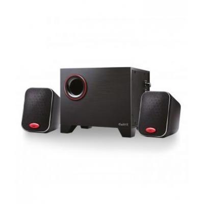 Ewent luidspreker set: 2.1 ch, 15W (2.5 W x 2 + 10 W), 180Hz-20KHz - Zwart