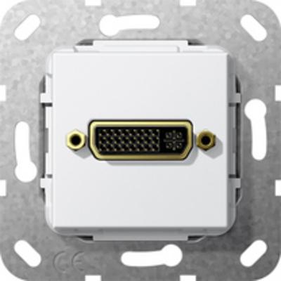 GIRA Basiselement DVI (24+5) Verloopkabel, zuiver wit glanzend wandcontactdoos