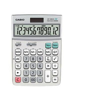 Casio calculator: DF-120ECO - 12-cijferig BIG LCD, Batterij: 1x CR2032, 180g