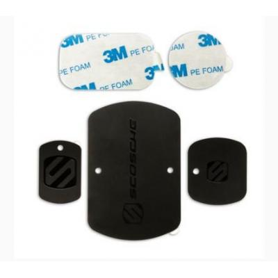 Scosche telefoon cover: magicPLATE kit - Zwart