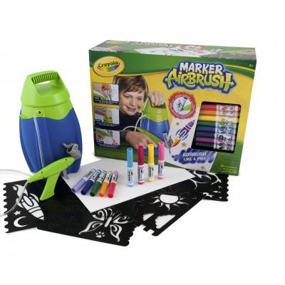 Crayola : Marker Airbrush blauw - Blauw, Groen