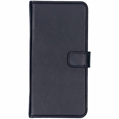 Echt Lederen Booktype Samsung Galaxy J4 Plus - Donkerblauw / Dark Blue Mobile phone case