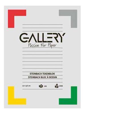 Gallery tekenpapier: TEKENBLOK ZWART 24,5X34,5 20BL