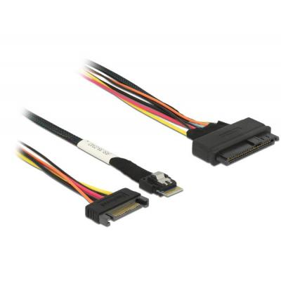 Delock kabel: Slim SAS SFF-8654 4i > SAS SFF-8639 50 cm
