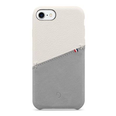 Decoded Leather Snap-On Case for iPhone 7, White Mobile phone case - Wit