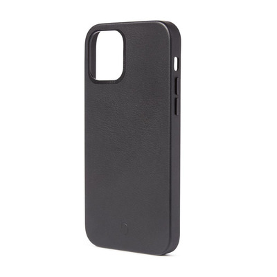 Decoded Back Cover Black - iPhone 12 Mini Magsafe, ECCO leather/TPU Mobile phone case - Zwart