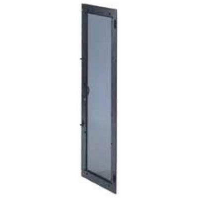 Eaton rack toebehoren: Deur, 27U, 600mm, Glas, Voor RE - Zwart
