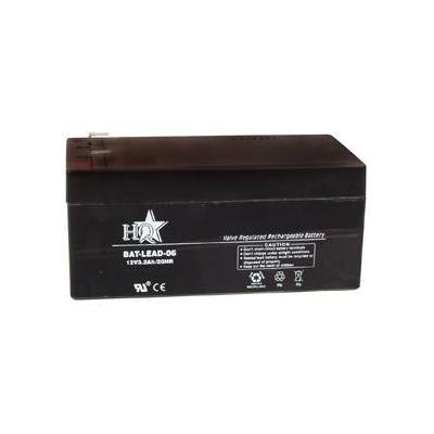 Hq batterij: Lead-Acid 12V 3.2Ah - Zwart