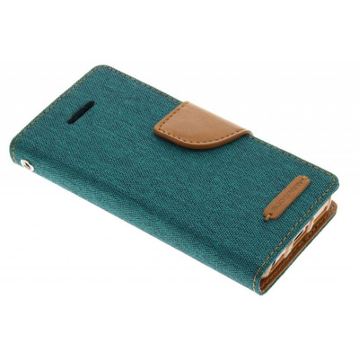 Canvas Diary Booktype iPhone 5c - Groen Mobile phone case