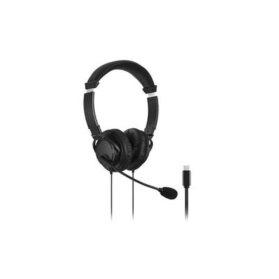 Kensington USB-C Hi-Fi Hoofdtelefoon met microfoon Headset - Zwart