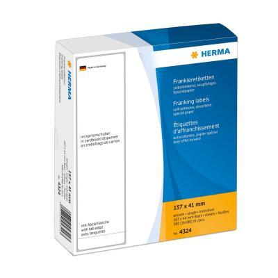 Herma etiket: Franking labels with tab edge 157x41 mm 540 pcs.