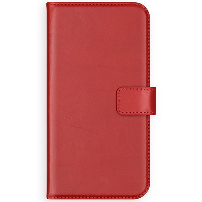 Echt Lederen Booktype OnePlus 5T - Rood / Red Mobile phone case