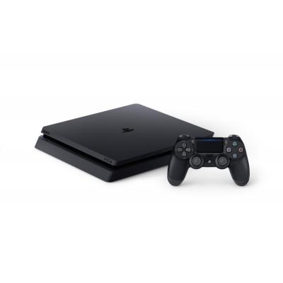 Sony spelcomputer: PlayStation 4, Console (Black) + 500 GB Slim + Dualshock 4 Controller  PS4