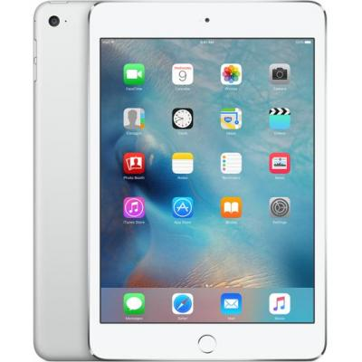 Apple iPad mini 4 Wi-Fi + Cellular 128GB - Silver Tablet - Zilver - Refurbished B-Grade