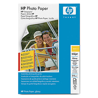 HP Glossy Photo Paper 210 g/m²-10 x 15 cm borderless/60 sht fotopapier