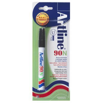 Artline 90 Black Marker - Zwart, Wit