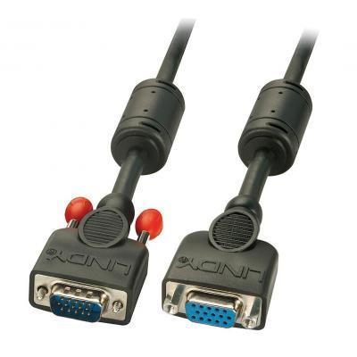 Lindy 7.5m VGA M/F VGA kabel  - Zwart