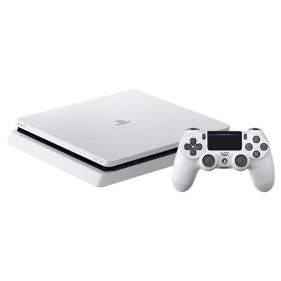 Sony spelcomputer: PlayStation 4, Console (White) + 500 GB Slim + Minecraft  PS4