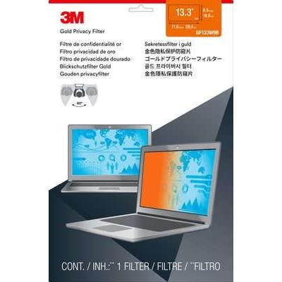 """3M Gold Privacy Filter for 33.782 cm (13.3"""") Widescreen Laptop Schermfilter - Transparant"""