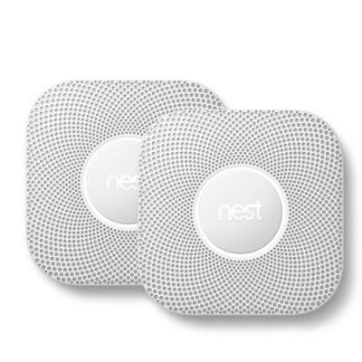 Nest rookmelder: Protect, bedraad, 2e generatie bundelpakket (2 stuks) - Wit