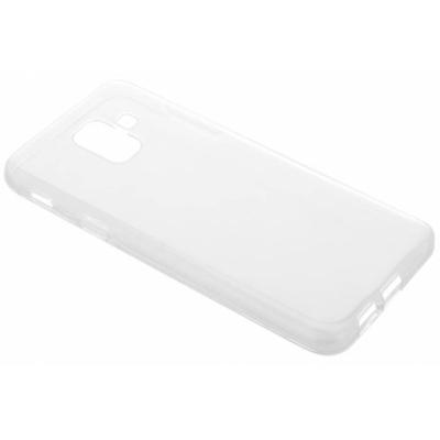 Selencia Transparent gel case for the Samsung Galaxy A6 (2018) Mobile phone case - Doorschijnend