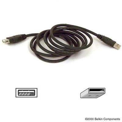 Belkin USB Extension Cable 1.8m USB kabel - Zwart