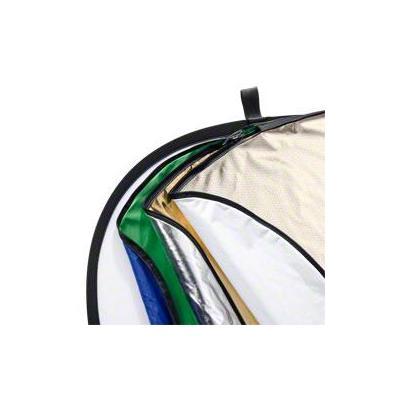 Walimex fotostudioreflector: 7in1 Foldable Reflector Set, 102x168cm - Blauw, Goud, Groen, Zilver, Wit