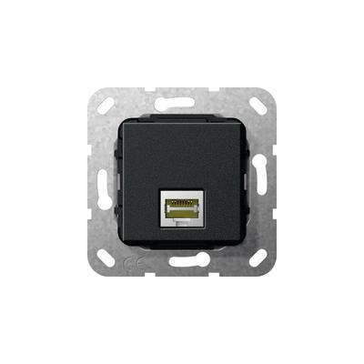 GIRA Basiselement Modular Jack RJ45 Cat.6 10 GB Ethernet Snijklemtechniek Wandcontactdoos - Zwart
