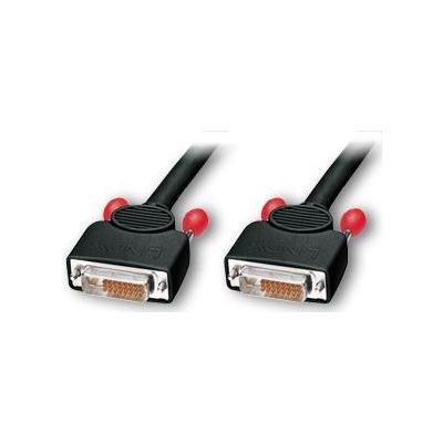 Lindy DVI kabel : DVI-D Dual Link 5.0m - Zwart