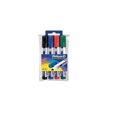 Pelikan marker: Permanent Marker 407, 4 pcs - Multi kleuren
