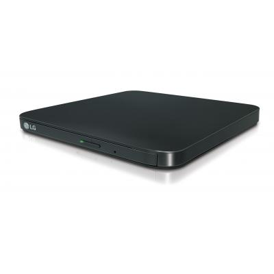 Lg brander: Slim Portable DVD Writer, External, USB 2.0, 200g, Black - Zwart