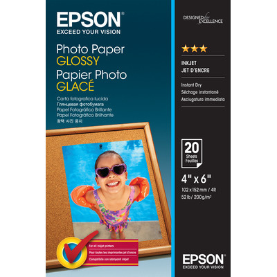 Epson Photo Paper Glossy - 10x15cm - 20 Vellen Fotopapier