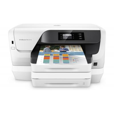 Hp inkjet printer: Officejet Pro 8218 - Zwart, Cyaan, Magenta, Geel