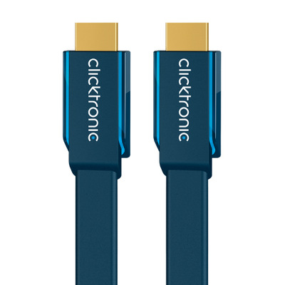 ClickTronic 2m High Speed HDMI HDMI kabel - Blauw