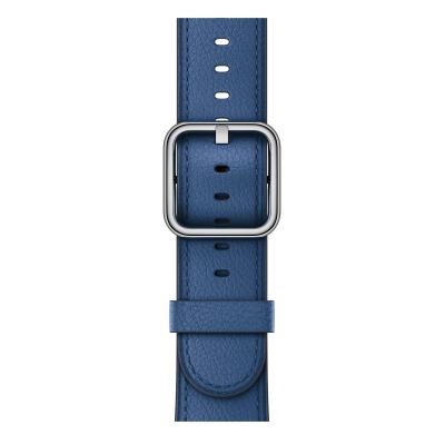 Apple : Saffierblauw bandje, klassieke gesp (42 mm)
