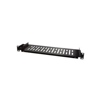 "LogiLink 48.26 cm (19 "") Cantilever Shelf, Front Screw Fixing d=150mm, black Rack toebehoren - Zwart"