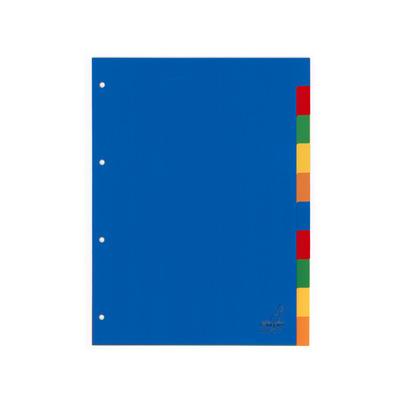 Kangaro Tabblad A4 blanco PP 120mµ assorti 4r 10dlg Indextab - Blauw