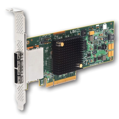 DELL LSI-9207-8E SAS interfaceadapter - Groen, Roestvrijstaal