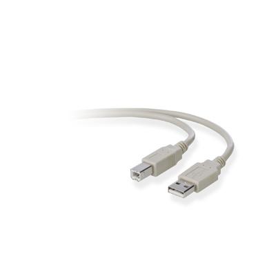 Belkin USB A/B 3m USB kabel - Grijs