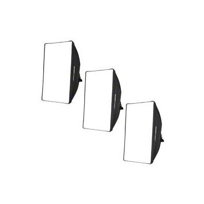 Walimex softbox: Set of 3 Daylights 250 - Zwart, Wit