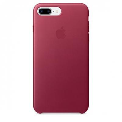 Apple mobile phone case: Leren hoesje voor iPhone 7 Plus - Bessenrood