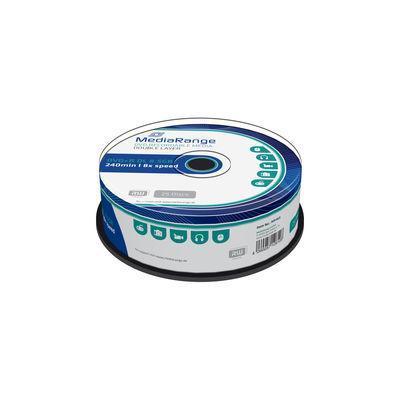 Mediarange DVD: MR469, 8.5GB, DVD+R, Double Layer, 8x, Cake 25