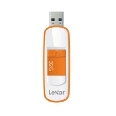 Lexar USB flash drive: JumpDrive S75 32GB - Oranje, Wit