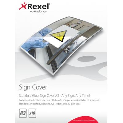 Rexel laminatorhoes: Standaard SignCover voor Symbolen, A3 Glanzend (10) - Transparant