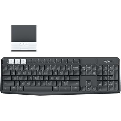 Logitech toetsenbord: K375s - Grafiet, Wit, AZERTY
