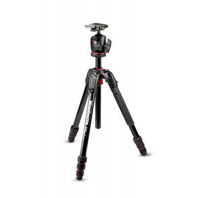 Manfrotto 6.5kg Capacity, 165cm Height, 2.18lg, Aluminium, Black/Red Tripod - Zwart, Rood