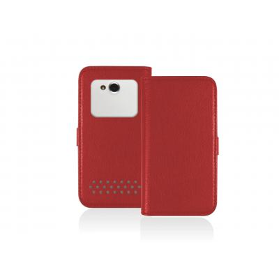 Sbs e-book reader case: Universal Book case for Smartphone up to 4'', Red - Rood